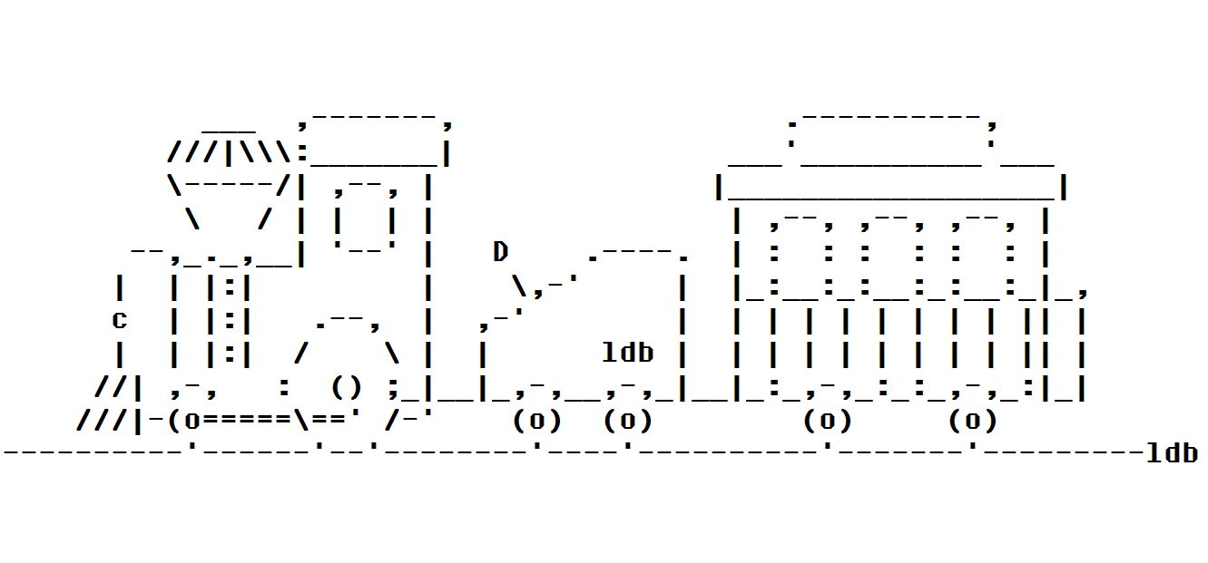 Relativ ASCII art | Ululating Undulating Ungulate KQ66