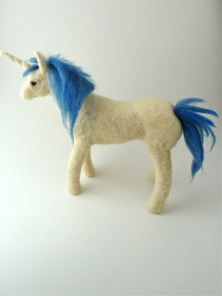 felted handmade unicorn